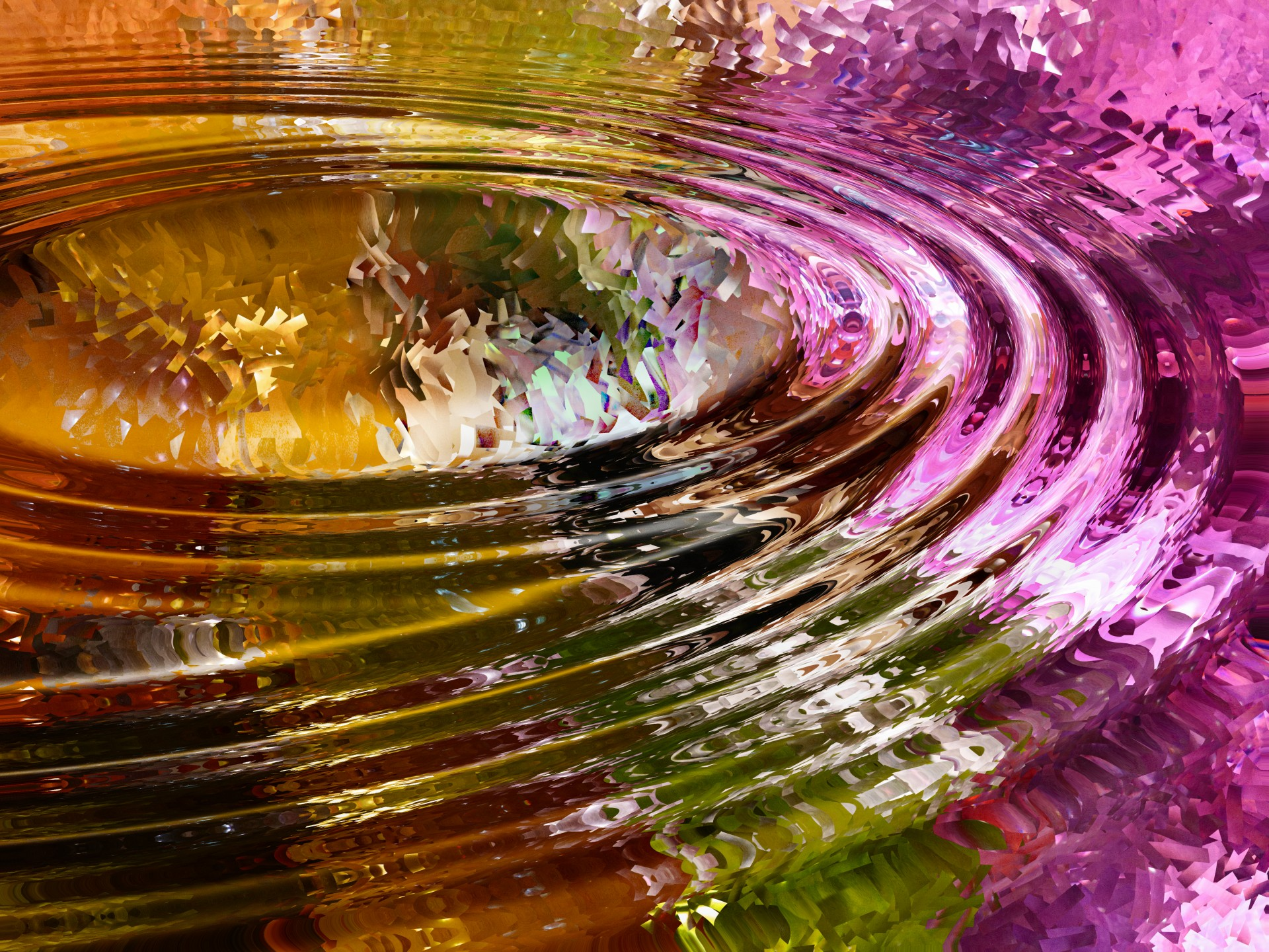 colorful ripples in water